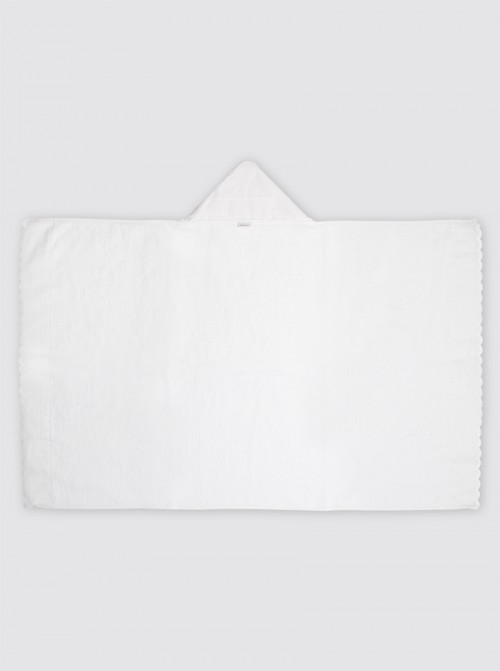 Toalla Mini Tira Bordada Blanca
