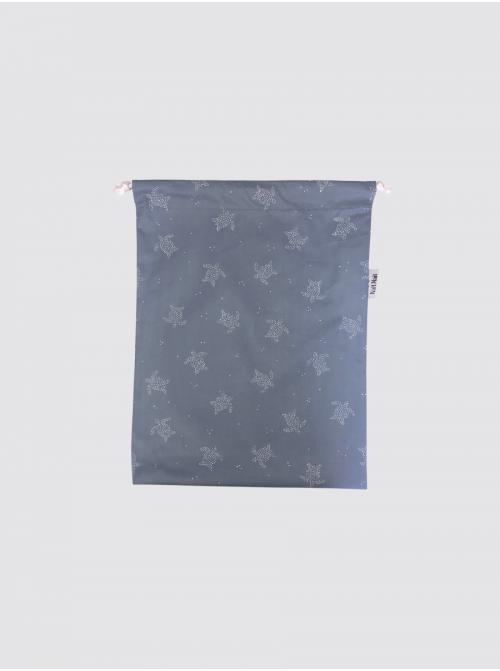 Bolsa para Mascarilla de Tortugas Azul