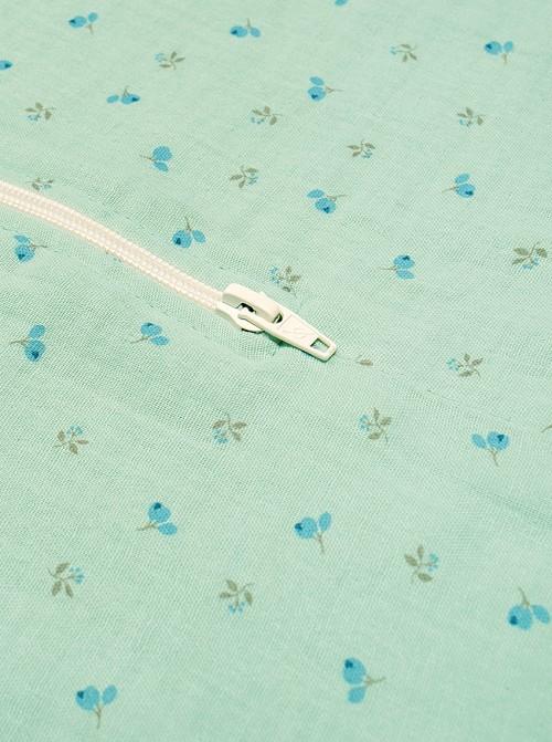 Pijama Burbuja Verde Bambula Florecitas