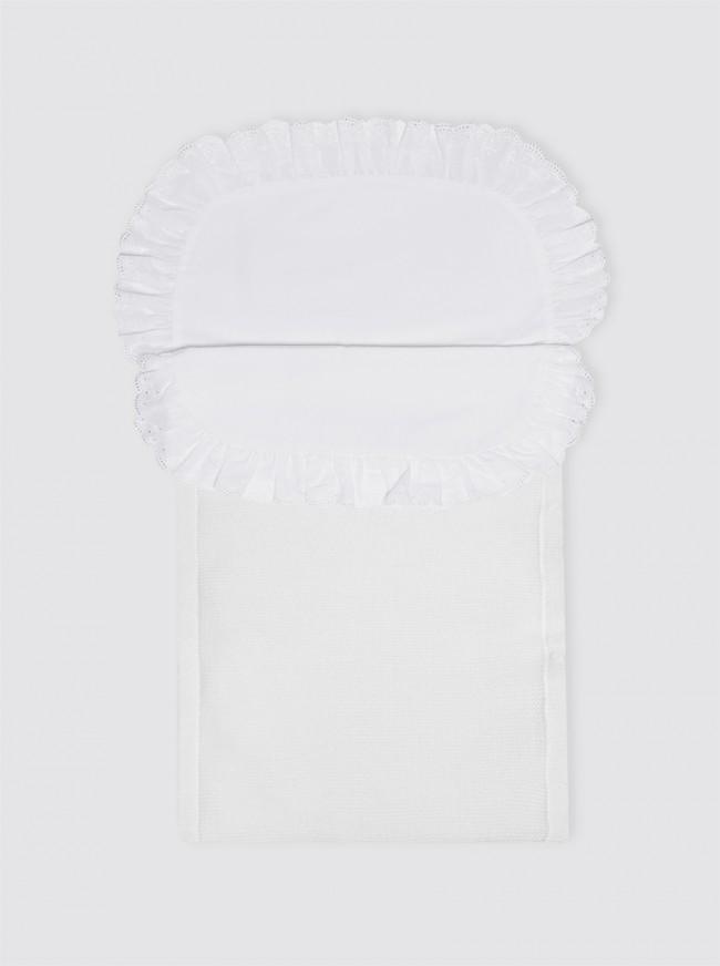 Saco de Punto Invierno Blanco con Sábana - Minicuna