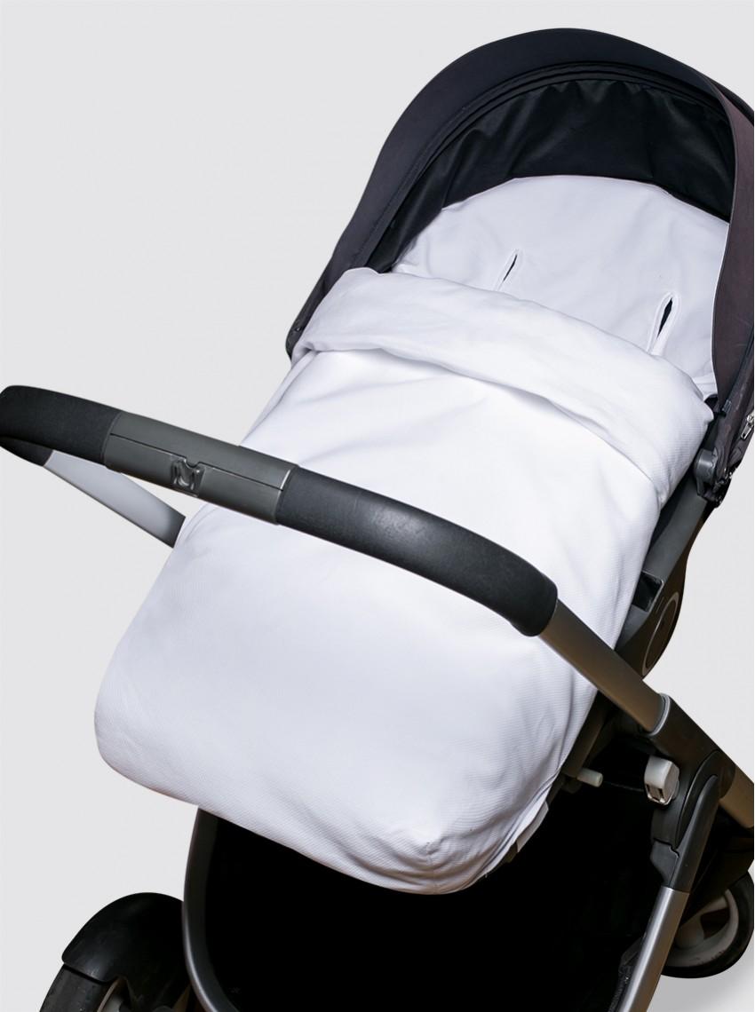 Funda Blanca con Saco Universal Silla de Paseo Piqué Blanco