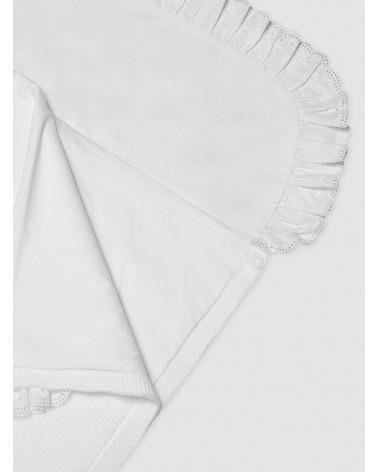 Saco de Punto Invierno Blanco con Sábana - Capazo